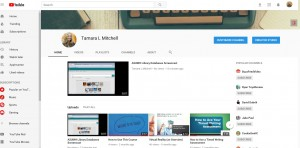 Screen clipping of Tamara Mitchell's YouTube Channel.